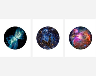 Hubble Photography Set - 3 Photography Set  - Amazing NASA Images from the Hubble Telescope
