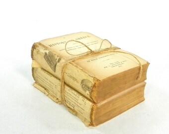 Antique Book Bundle, History of Greece, 1882, Grote