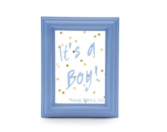 Light Blue Picture Frame - Baby Shower Sign - Baby Shower Invitation