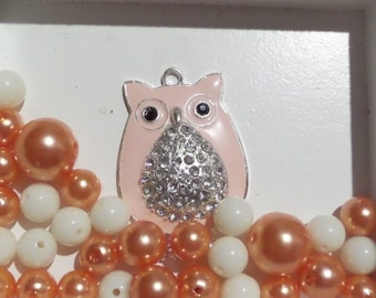 30CT. 10mm and Larger with Owl Pendant, K20