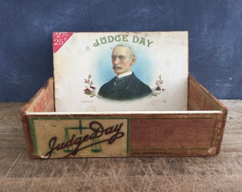 Vintage Cigar Box / Judge Day