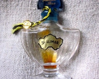 Vintage 1960's Shalimar Bottle with Charm Attached