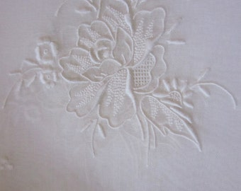 Eight Stunning Vintage Organdy Placemats