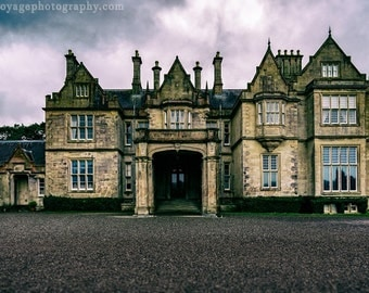 Irish House Photograph, Architecture Art, Manor House Photo, Travel Art, Dark Mansion Photo, Muckross House Photo, Dark Landscape, Ireland