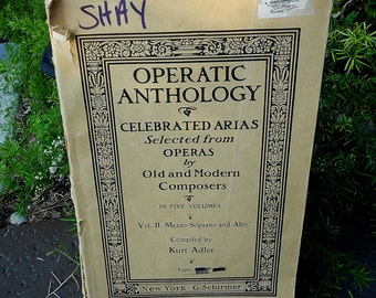 Operatic  Anthology Music Book  Volume II