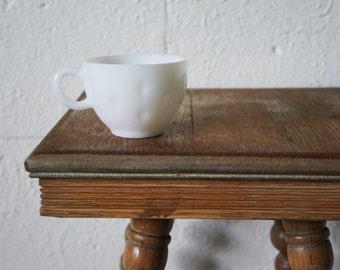 Milk Glass Teacups, Set of 4