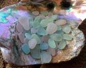 60 pale PASTEL Genuine Beach Sea Glass  PP-D15-D-63
