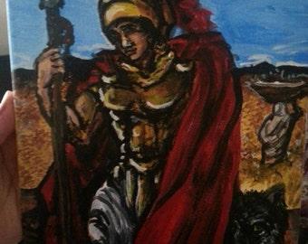 Roman God Mars 8x10 acrylic