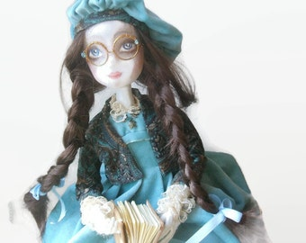 Art doll Staisy  OOAK doll  Cloth Art Doll   Handmade   Soft sculpted Collecting doll Handmade art dolls