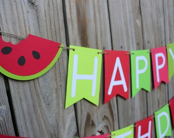 Watermelon Banner/ Watermelon/ Happy Birthday Banner