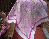 Quilt Top, All Pinks for your little Baby Bundle of Joy...Patchwork in Flannel and Cotton, 37 x 37