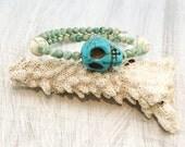 Armada Stacking Bracelets Series I (stacking bracelet, skull bracelet, arm candy, womens fashion, beaded bangle)