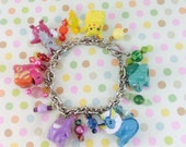 Reserved - OOAK - Rainbow Pokemon Theme Charm Bracelet