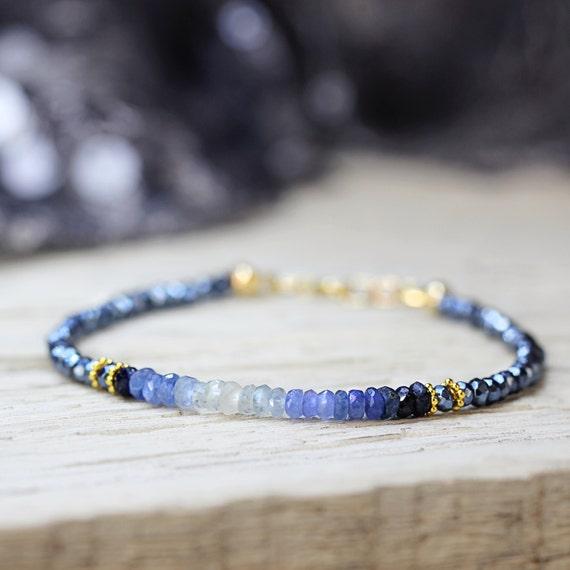 Blue Sapphire Bracelet - September Birthstone Bracelet
