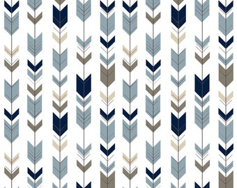 Fletching Arrows Contour Changing Pad Cover - Tribal, Baby, Western, Navy, Tan