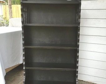 Shabby Chic Bookcase Painted Black