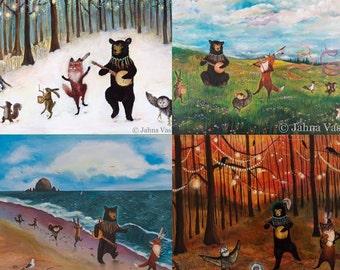 "The Four Seasons Print Collection, 11x14"" Print of each Season"