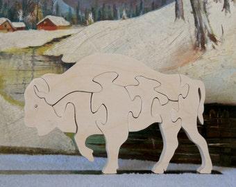 Wooden Bison Puzzle