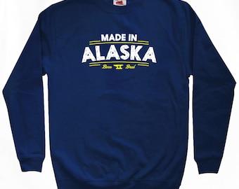 Made in Alaska V2 Sweatshirt - Men S M L XL 2x 3x - Alaska Shirt - 4 Colors