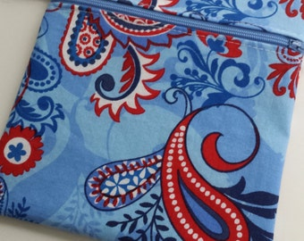 Zippered wet bag cosmetic pouch  by EcoAlternatives July 4th America Summer Collection 2016