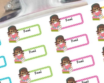 Reading Planner Stickers