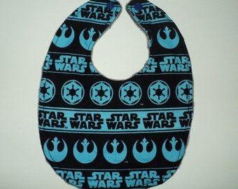 Star Wars Baby Bib, Newborn Or Baby Toddler Bib, Geek Baby Gift, Gender Neutral Bib, Minky Bib Terry Cloth Bib, Nerd Baby, Baby Shower Gift