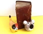 Koala Bear Catnip Cat Toy - Needle Felted Wool