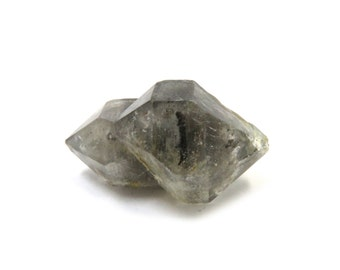 Tibetan Quartz Herkimer Diamond-  Double Terminated 1 Raw Crystal 25mm x 15mm Natural Rough Stone for Jewelry Making (Lot 1060)