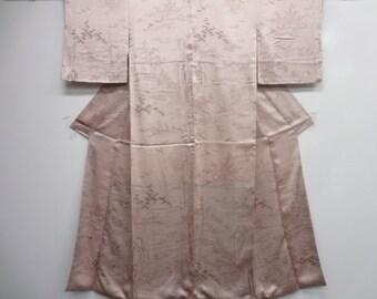 Silk Japanese Kimono hand painted landscape and plants