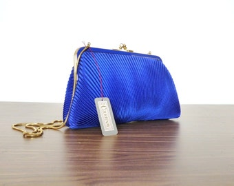 1990s Glam Pouch Purse Bag Womens Blue by CC Courtenay