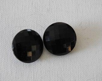 Black Costume Clip On Earrings