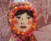 Bracket Starshimmer. Amigrumi crochet handmade doll. Starchild