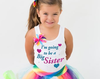 I'm Going to be a Big Sister Personalized Shirt Big Sister Gift Big Sister Outfit Announcement Shirt Matching Sibling Baby Shower Shirt