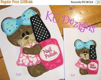 50% OFF SALE Beauty Bear 2 Machine Applique Embroidery Design - 4x4, 5x7 & 6x8