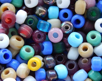 9mm Assorted Glass Crow Beads, 100 PC (IND1C03)