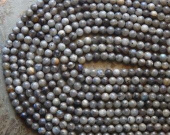 6mm Labradorite Semi-Precious Round Polished Beads, Half Strand (N3-IND1C575)