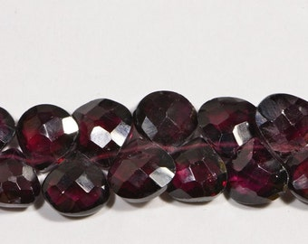 Garnet 6.8x7.5x3.5mm  6Beads Faceted Teardrop Natural Gemstone Beads Gemstone Bead Garnet Beads Jewelry Making Supplies