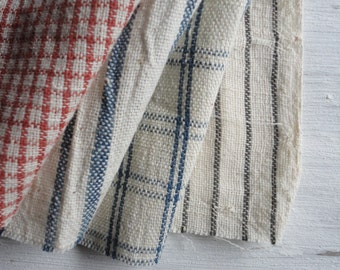 ORGANIC: light hand-woven cotton curtain in different colors and patterns
