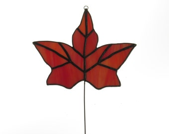 Stained Glass Fall Leaf - 12 piece Suncatcher - Price Includes Shipping