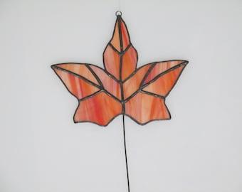 Stained Glass Fall Leaf - 12 piece Suncatcher
