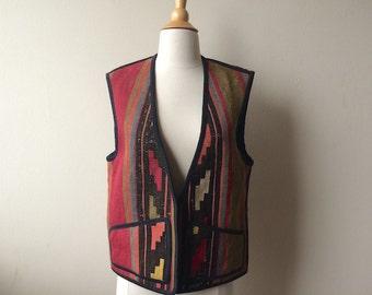 Vintage Tapestry Southwestern Vest