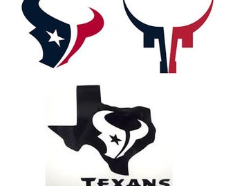 Houston Texans Decal/RTIC YETI Car Decal, Computer Decal, Window Decal, Cell Phone Decal