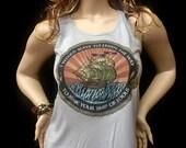 Tank Top - Ship Of Fools- Dead inspired-Women's racerback tank top- ladies Next Level brand tank tops/ Mongo Arts