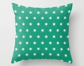 36 colours, 6 Pointed Stars Pattern Pillow Cover, Emerald Green stars pillow case, White Stars Pattern Cushion cover, Indoor or Outdoor