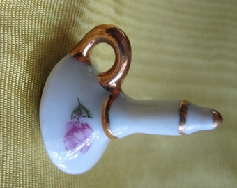 Vintage dollhouse Miniature LIMOGES Candle Stick, Candle Holder