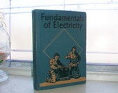 Vintage 1943 Book Fundamentals of Electricity by Lester Williard