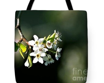 "TOTE BAG/""Pear Blossom Special""/Fine Art Tote Bag/Great Bag For Everyday Convenience/Perfect Gift For Someone Special"