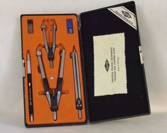 Alvin Precision Drawing Set 795 JS Made in Germany Vintage Drafting Tools