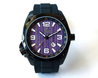 Mens Wrist Watch - Recycled Skateboard Watch - Great Gift for Men  - Made in Canada