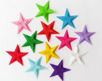 Felt star, Felt star shapes, craft supply, crafts die cut, felt shapes, Pre cut felt shapes